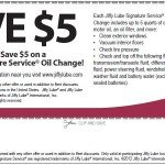 JIffy Lube Oil Change Coupon 2012