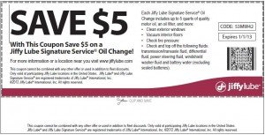 Jiffy Lube Coupons - August 2012 | Cheap Oil Change Coupons