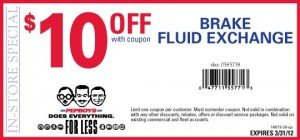 Pep Boys Brake Fluid Exchange Coupon