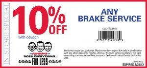Pep Boys Brake Service Coupon