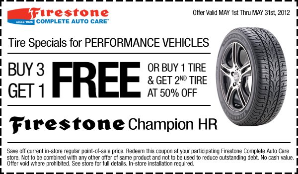 Bridgestone tire discount coupons