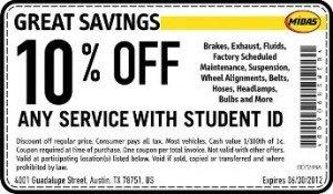 Midas Student Discount - Austin, TX