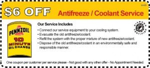 Penn 10 Coolant and Anti Freeze Coupon