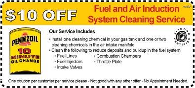 Infiniti oil change coupon