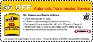 Penn 10 Transmission Service coupon