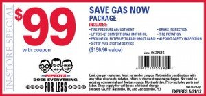 Pep Boys gas saver coupon
