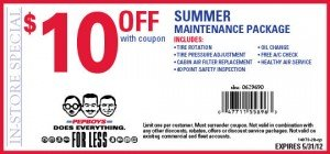 Pep Boys Summer Coupon