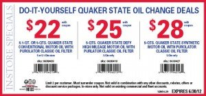 Pep Boys DIY Oil Change Coupon - June 2012