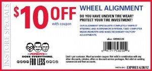 Pep Boys wheel alignment coupon