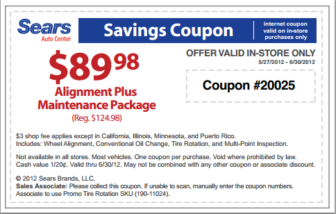 Oil change discount coupons