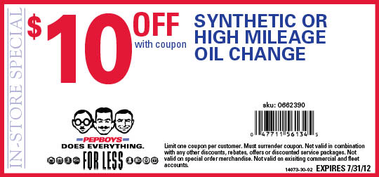 $21.99 Oil Change Service With Coupon