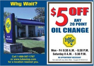 Lube stop oil change coupon 2012