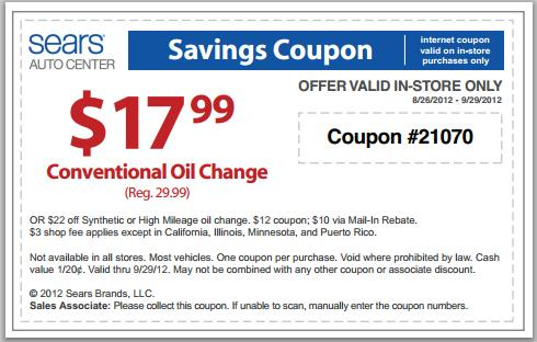 Sears coupons in store september 2018