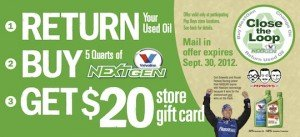 Valvoline NextGen Oil Change Rebate @ Pep Boys