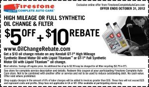 Premium Oil Change Coupon - Firestone