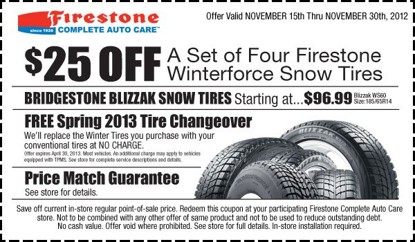 Coupon for discount tires