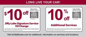Atlantic Jiffy Lube Coupon