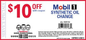 Pep Boys Mobil 1 Synthetic Oil Change