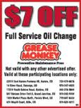 Grease Monkey Coupon for Oil Change